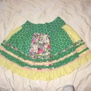 Beetlejuice London patchwork, lace skirt